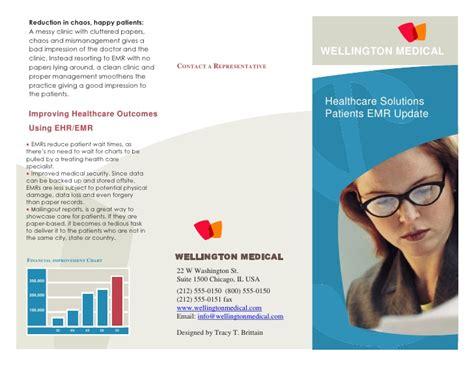 brochure template health healthcare brochure sle