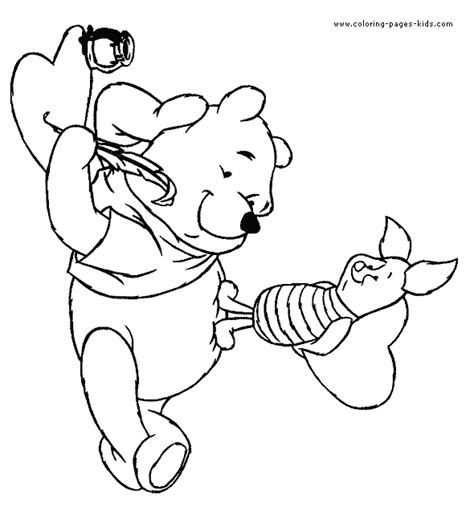 winnie the pooh and friends valentine coloring pages