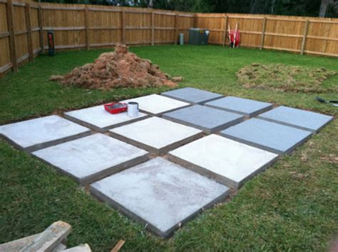 Diy Concrete Backyard by A Roll Acosta Diy Back Yard Patio Part 3