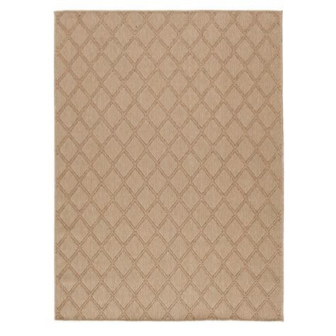 Hton Bay Outdoor Rugs Hton Bay Beige 5 Ft 3 In X 7 Ft Indoor Outdoor Area Rug 1701na57h 105n The Home