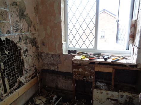 water damage in bathroom old bathroom with d walls modernised and refitted