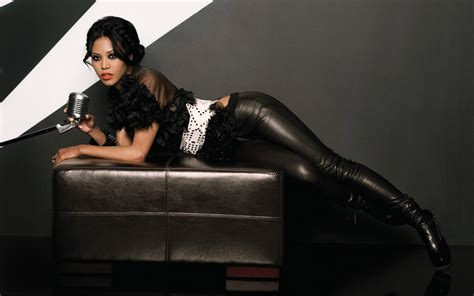 wallpaper leather girl 1680x1050 amerie wallpaper music and dance wallpapers