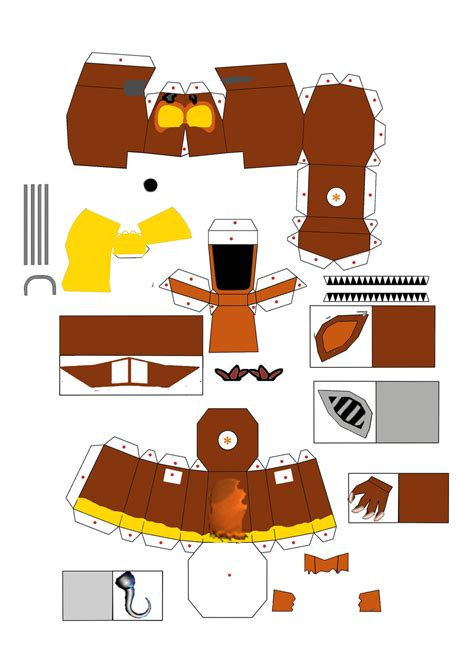 Papercraft How To - fnaf world o foxy letainguyen86 papercraft 1 by