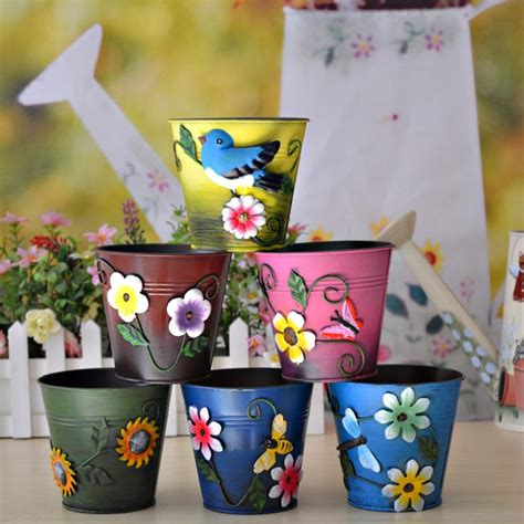 flower for home decoration shop popular decorative metal flower pots from china