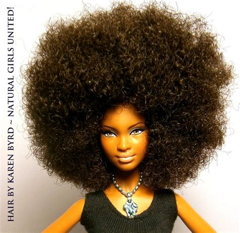 black doll with big afro une afro ladylolotte be