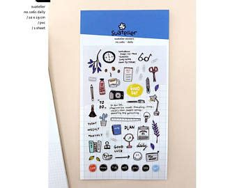 Suatelier Daily Something Diary Deco Stickers Sticker Hiasan Buku korean diary sticker etsy