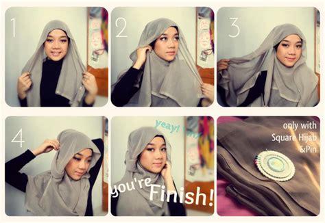 tutorial gambar cara hijab foto tutorial cara memakai jilbab cantik simpel terbaru