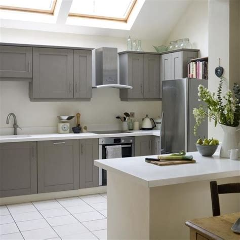 modern shaker style kitchen take a tour of this modern shaker kitchen grey painted