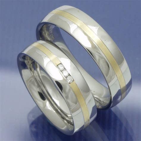 Eheringe Stahl by Eheringe Shop Steel Gold Trauringe Aus Edelstahl Und