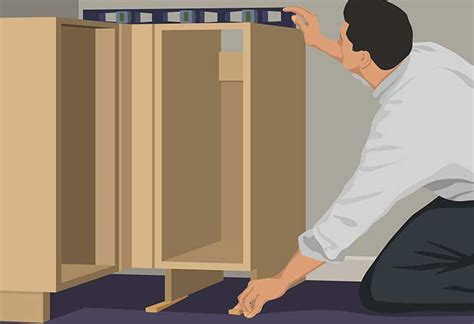 how to install base cabinets base cabinet installation guide at the home depot