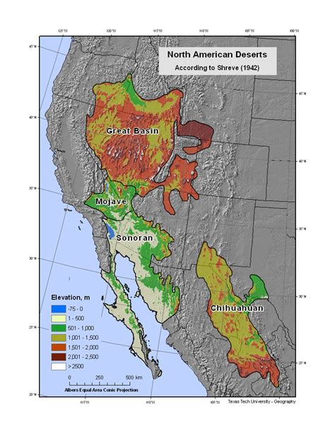 map us deserts bajanomad the four types of deserts in the us powered