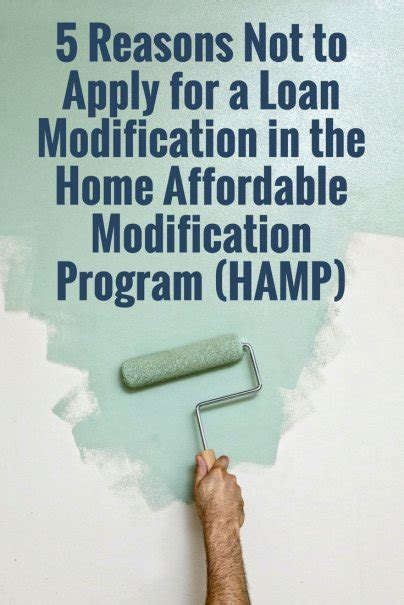 5 reasons not to apply for a loan modification in the home