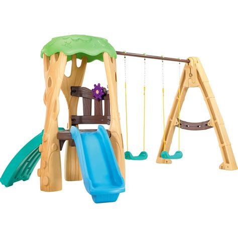 little tikes plastic swing set little tikes tree house swing set swingsets slides