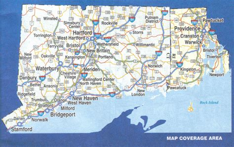 map of ri and ct connecticut and rhode island paper wall map 171 jimapco
