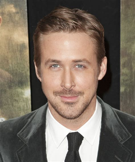 Ryan Gosling Short Straight Formal Hairstyle   Light