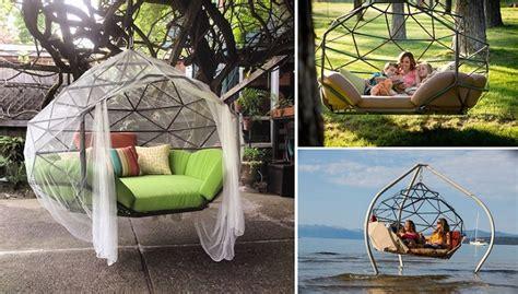 kodama zome beautiful geometry inspired hanging hammock sofa home