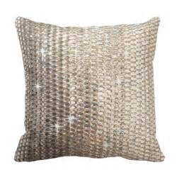 gold rhinestone glitter design throw pillow zazzle