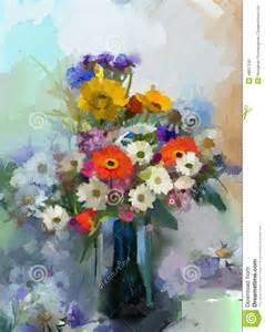 vase avec immobile un bouquet de la peinture de