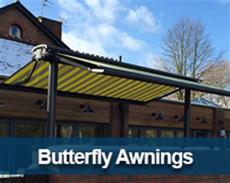 butterfly awnings commercial canopies retractable roof systems terrace