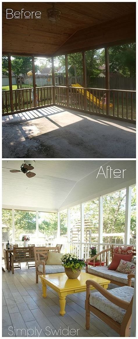 screened porch makeover screened porch bright makeover outdoor decor tile and