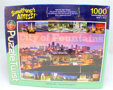 1000 Jigsaw Puzzles Jigsaw 1000 jigsaw puzzle twist something s amis kansas city of fountains new dragonfly whispers