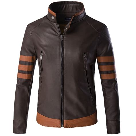 motorcycle style leather jacket 2016 style men s wolverine leather jacket motorcycle