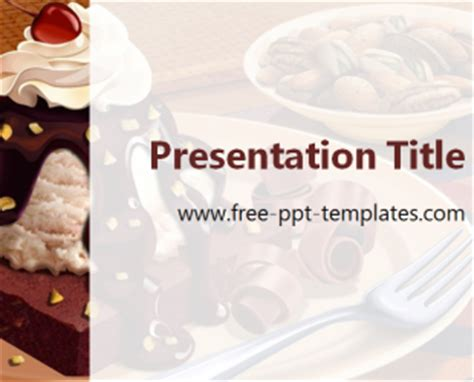 Free Templates For Powerpoint Cakes   cake ppt template free powerpoint templates
