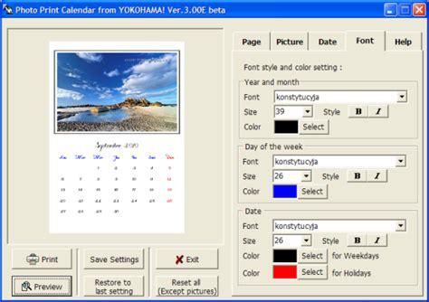 Creer Calendrier Photo Photo Print Calendar Gratuit Pour Cr 233 Er Et Imprimer Vos