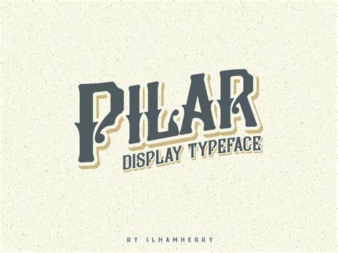 dafont typography pilar typeface font dafont com