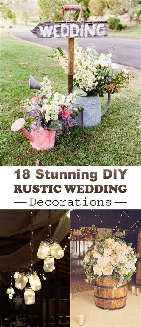 diy country wedding ideas 18 stunning diy rustic wedding decorations