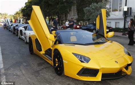 The stretch supercar complete with big screen TVs and a
