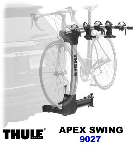 thule swing away bike carrier thule 9027 apex swing away hitch mount bike rack