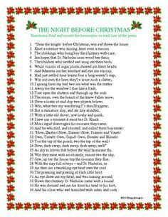 printable version of night before christmas twas the night before christmas poem printable version
