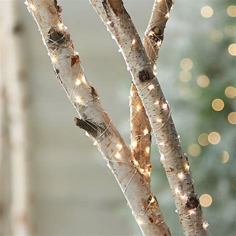 how to string lights on tree branches twinkle silver string lights crate and barrel