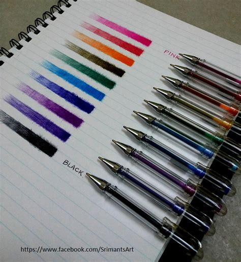 colored l shades color ballpoint pen shades study by srimant on deviantart