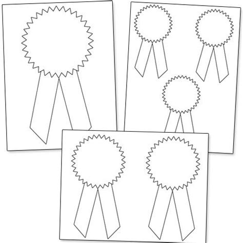 pattern recognition horse printable award ribbons classroom pinterest school