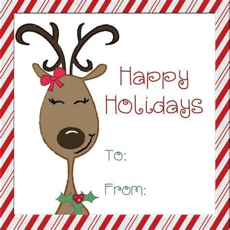 printable reindeer tags reindeer holiday gift tags printable reindeer by