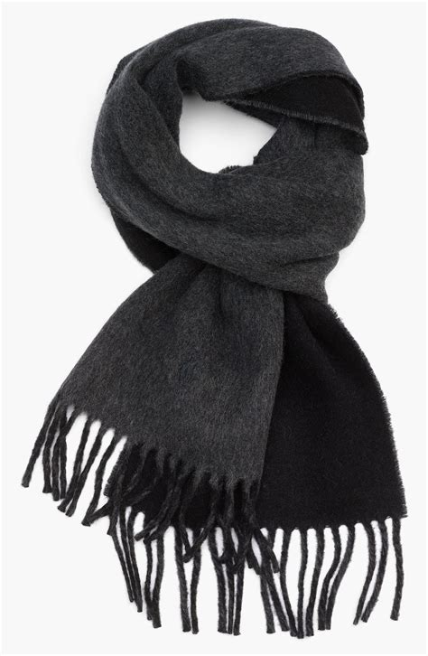 polo ralph classic reversible scarf in gray for