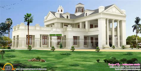 luxury colonial house plans luxury colonial style house architecture kerala home design and floor plans