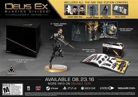 Deus Ex Mankind Divided Collector Edition Statue are the deus ex mankind divided collector s edition and day one edition worth buying
