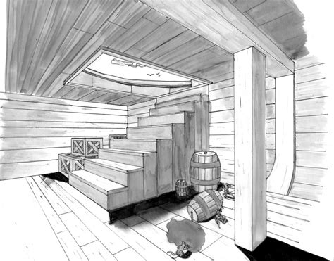 2 Point Perspective Interior Room by Ship Interior By Badpanda10 On Deviantart