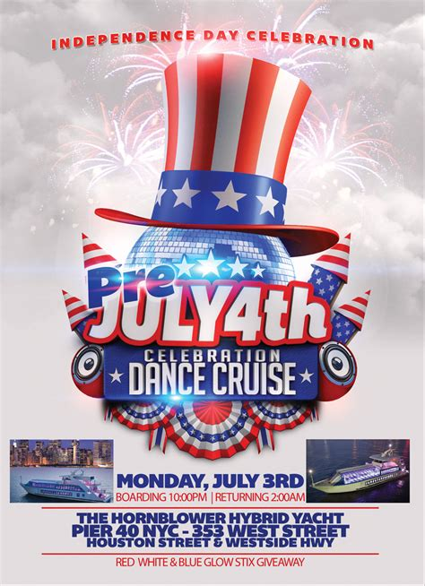 boat party nyc july fourth of july weekend red white and blue yacht party