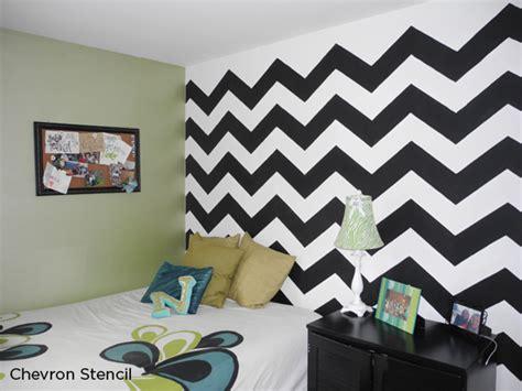 Chevron Template For Walls by Home Decor Trend Stenciling In Black White