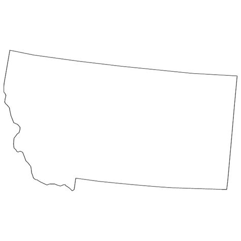 Montana Map Outline by Clipart States Outline Montana Bbcpersian7 Collections