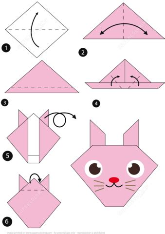 How To Make A Paper Rabbit - how to make an origami rabbit step by step