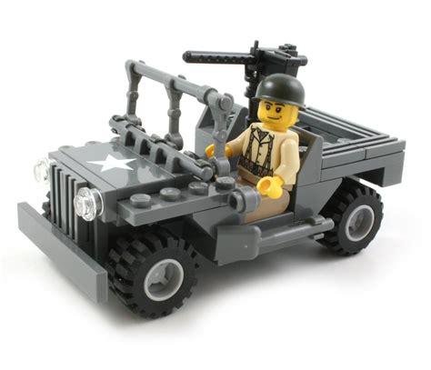 Lego Army Jeep Brickmania Ww2 Jeep With Us Infantry Minifig Custom Lego