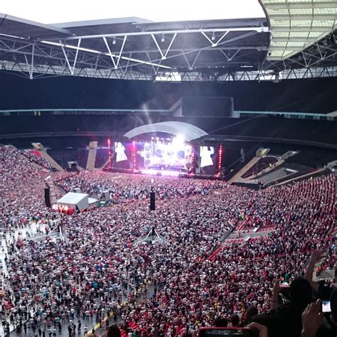 wembley stadium best seats concert view from wembley stadium block 508 row 17 seat 128