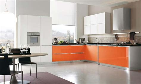 orange and white kitchen ideas