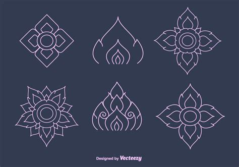 free pattern in vector free thai pattern vector download free vector art stock