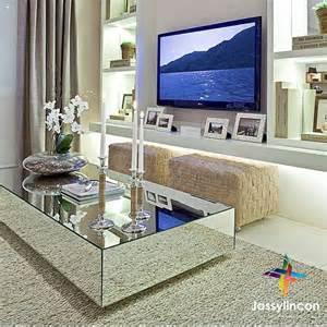 Diy mirrored coffee table mirror table tv walls mykonos living rooms